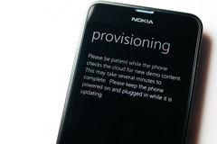 Nokia Lumia Microsoft Widowsphone Royalty Free Stock Photo