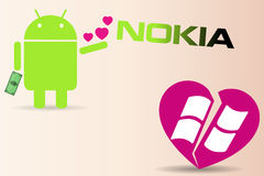 Nokia makes first smart phone with Android Royalty Free Stock Image