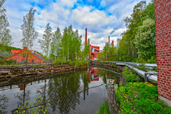 Nokia river industrial area Royalty Free Stock Photo