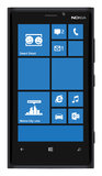 Nokia Smartphone Lumia 920. New Nokia smartphone design in black. Featuring Windows Phone 8 OS, handsets Lumia 920 Royalty Free Stock Images