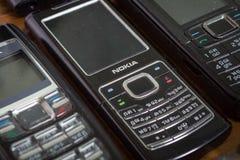 Nokia telefony komórkowi Fotografia Stock