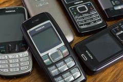 Nokia telefony komórkowi Obrazy Stock