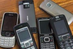 Nokia telefony komórkowi Fotografia Royalty Free