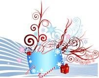 Noël abstrait de drapeau Image libre de droits