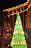 Noël au casino vénitien d'hôtel de tourisme à Las Vegas Image stock