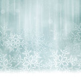 Noël bleu argenté abstrait, fond d'hiver Photo libre de droits