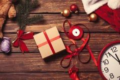 Noël cadeau-prêt pour l'empaquetage Photographie stock