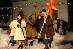 Noël en Ukraine. Cordon rêveur de festival. Image stock