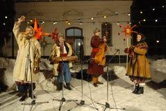 Noël en Ukraine. Cordon rêveur de festival. Photographie stock libre de droits