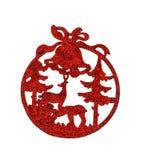 Noël et accessoires de renne D'isolement sur le fond blanc, Photo stock