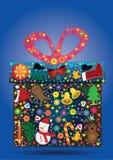 Noël Items_eps de cadeau de fleurs Photo stock