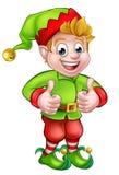 Noël mignon Elf de bande dessinée Image libre de droits