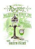 NOLA Collection Absinthe de Groene Feeachtergrond Stock Foto