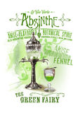 NOLA Collection Absinthe the Green Fairy Background. Known as le fée verte (green fairy), this potent and historic alcohol was reintroduced to America in 2007 stock photo