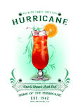 NOLA Collection Hurricane Cocktail Background Stock Image