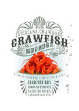 NOLA Collection Louisiana Crawfish Background Royalty Free Stock Photography