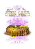 NOLA Collection Mard Gras King Cake Background Stock Image