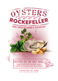 NOLA Collection Oysters Rockefeller Background. Artwork depicting Oysters Rockefeller: oysters on the half shell baked with breadcrumbs and the secret spinach Royalty Free Stock Image