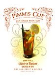 NOLA Collection Pimm's Cup Cocktail Background Royalty Free Stock Photography