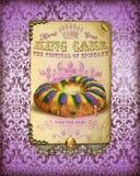NOLA Culture Collection Mardi Gras konung Cake vektor illustrationer