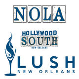 NOLA Hollywood South New Orleans designer royaltyfri illustrationer