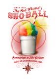 NOLA Nowy Orlean Snowball Inkasowy tło obrazy royalty free