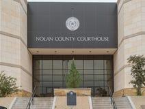 Nolan County Courthouse i Sweetwater Texas Royaltyfri Fotografi