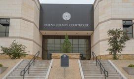 Nolan County Courthouse på Sweetwater Texas Royaltyfria Bilder