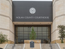 Nolan County Courthouse in Sweetwater Texas Royalty-vrije Stock Fotografie