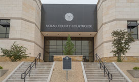 Nolan County Courthouse in Sweetwater Texas Royalty-vrije Stock Afbeeldingen