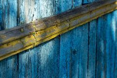 Old paint on boards. NOld Irish for hire On the boards of the fence Royalty Free Stock Photography