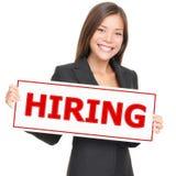 Noleggio della donna di job Fotografia Stock