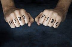 Noleggio o fuoco? Immagini Stock Libere da Diritti
