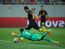 Nolito scoring a goal Royalty Free Stock Photo