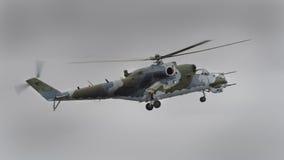 Nolla för bakre helikopter Mi-24 Fotografering för Bildbyråer
