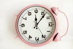 Nolla-`-klocka islolated på vit bakgrund Royaltyfri Bild