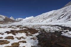 Nolla peka i norr Sikkim. Royaltyfri Fotografi