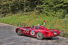 Nolla S C A MT 4 1500 2AD (1955) i Mille Miglia 2016 Arkivbild