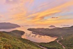 Nollan för Po Toi på morgonen, Hong Kong royaltyfri fotografi