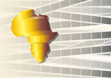 Nolliwood. Illustration of the African cinema Royalty Free Stock Image