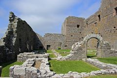 Noltlandkasteel op Westray, de Eilanden van Orkney, Schotland Stock Foto