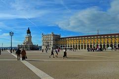 Nom commun de place de commerce : Place de palais et stat équestre photo stock