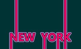 Nom de New York City Concept créatif d'affiche de typographie illustration stock