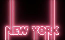 Nom de New York City Concept créatif d'affiche de typographie Image stock