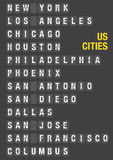 Nom des villes des USA sur l'aéroport Flip Board Illustration Stock
