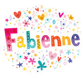 Nom féminin de Fabienne French illustration stock