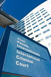 Nom international d'étiquette de Tribunal Pénal Photos libres de droits