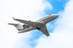 Nomad Aviation Bombardier CL-600. NOVYY URENGOY, RUSSIA - JUNE 11, 2016: Nomad Aviation Bombardier CL-600 Challenger takes off the Novyy Urengoy International stock photos