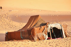 The nomad (Berber) tent. In the Sahara, Morocco Royalty Free Stock Photo