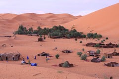 Nomad camp in Erg Chebbi Royalty Free Stock Photography